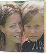 With Mother - Sweden. Wood Print