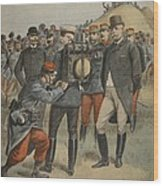 With The Army Manoeuvres The Duke Wood Print