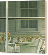 Within The Screened Porch Wood Print