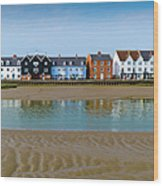 Wivenhoe Waterfront Wood Print by Gary Eason