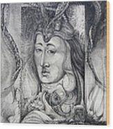 Wizard Of Bogomil's Island - The Fomorii Conjurer Wood Print