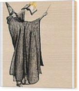 Wizard Of Orange Wood Print