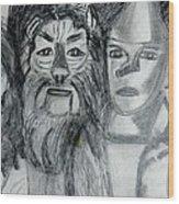 Wizard Of Oz Friends Wood Print