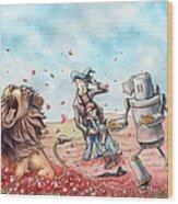Wizard Of Oz - Poppy Field Wood Print