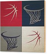 Wizards Ball And Hoop Wood Print