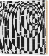 Wobbly Circles Maze  Wood Print