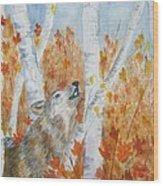 Wolf Call Wood Print