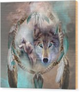 Wolf - Dreams Of Peace Wood Print