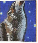 Wolf Howl Wood Print