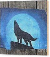 Wolf Howl2 Wood Print