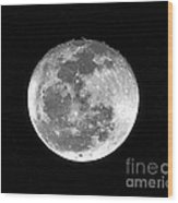 Wolf Moon Waning Wood Print by Al Powell Photography USA
