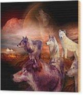 Wolf Mountain Wood Print
