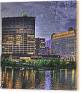 Wolf Point Panorama Wood Print
