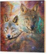 Wolf - Spirit Of The Universe Wood Print