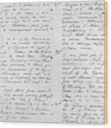 Wolfe Journal, 1759 Wood Print