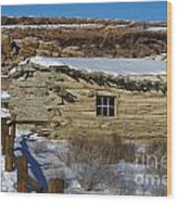 Wolfe Ranch Cabin Arches National Park Utah Wood Print