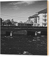 wolfe tone bridge and jurys hotel next to the quays on the corrib river Galway city county Galway Republic of Ireland Wood Print
