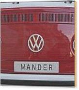 Wolkswagen Combi Red Wood Print
