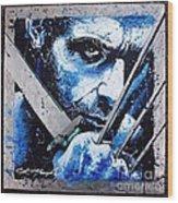 Wolverine Wood Print by Chris Mackie