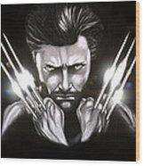 Wolverine Wood Print by Kim Lagerhem