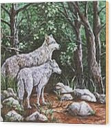 Wolves In South Dakota Wood Print