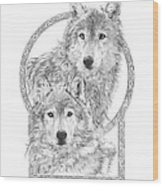Canis Lupus II - Wolves - Mates For Life  Wood Print