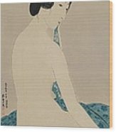 Woman After A Bath Taisho Era Wood Print