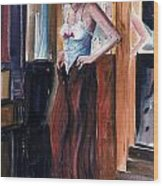 Woman Dressed Wood Print