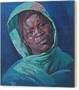 Woman From Darfur Wood Print