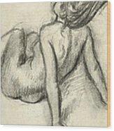 Woman Having Her Hair Styled Wood Print