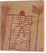Woman Holding Yuccas Wood Print