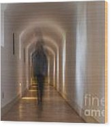Woman In A Tunnel Wood Print