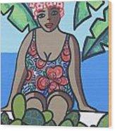 Woman In Bathing Suit 4 Wood Print