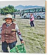 Woman In China Wood Print