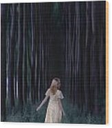 Woman In Forest Wood Print by Joana Kruse