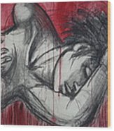 Woman In Love 2 - Female Nude Wood Print