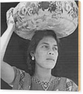 Woman In Tehuantepec, Mexico, 1929 Wood Print