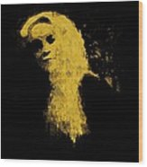 Woman In The Dark Wood Print