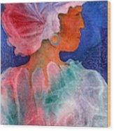 Woman In Turban Wood Print