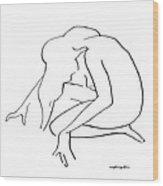 Woman Kneeling Wood Print