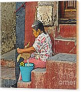 Woman Of Colonial Mexico Wood Print