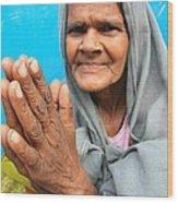 Woman Of India Wood Print
