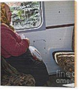 Woman On Train - Budapest Wood Print