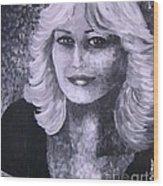 Woman Portreit Wood Print