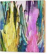 Woman Power Diptych 02 Wood Print