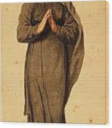 Woman Praying Wood Print