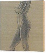 Woman Standing Wood Print