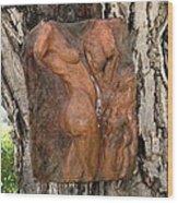 Woman Torso Relief Wood Print