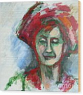 Woman With A Hat - Anne Iv Wood Print