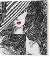 Woman With A Hat Wood Print
